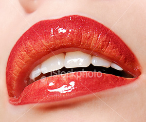 lips and red image