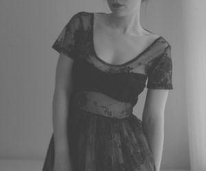 black and white and dress image