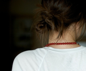 red necklace, i made that, and and yea image