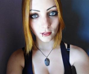 big eyes, blue eyes, and lips image