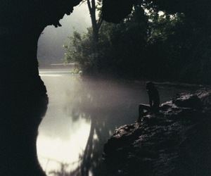 cave, lake, and water image