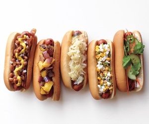 food, hot dog, and eat image