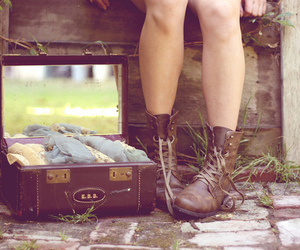 vintage, boots, and shoes image