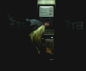 bt, blonde, and phone image