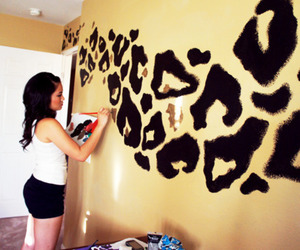 girl, room, and tiger image