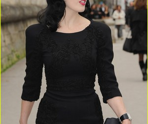 Dita von Teese, black dress, and dita image