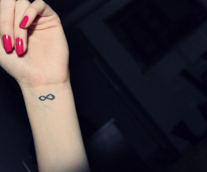 infinity, nails, and tattoo image