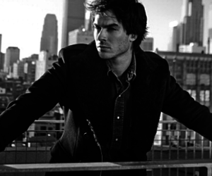 black and white, perfect, and ian somerhalder image