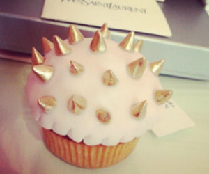 cupcake, food, and spikes image