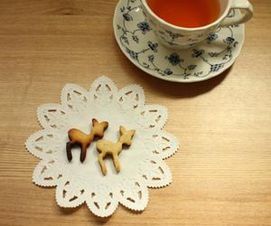 tea, vintage, and deer image