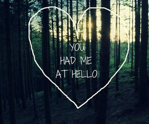 love, quote, and hello image
