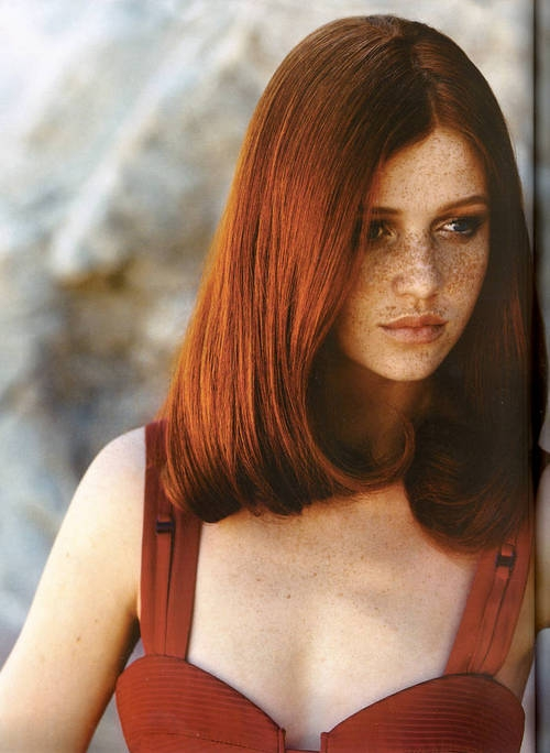 freckles, red hair, and redhead image