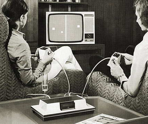 video games, black and white, and game image