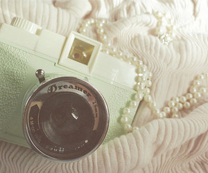 camera, photography, and pearls image