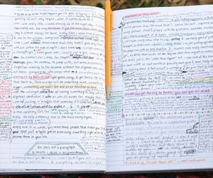 journal, writing, and diary image