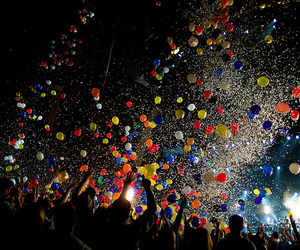 balloons, party, and night image