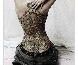 tattoo and back image
