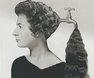 hair, art, and black and white image