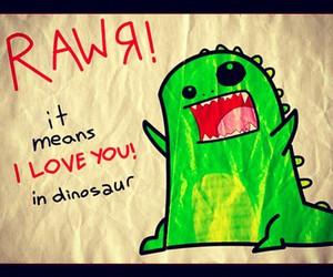 love, dinosaur, and I Love You image