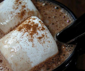 chocolate, marshmallow, and drink image