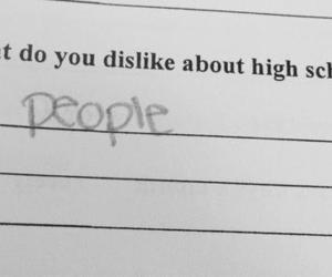 people, school, and high school image