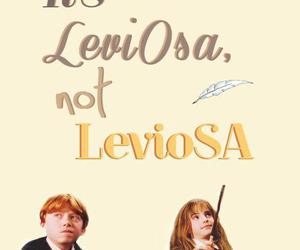 harry potter, leviosa, and ron image