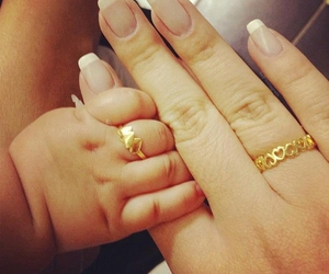 baby, nails, and ring image