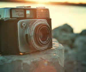 beach, camera, and landscape image