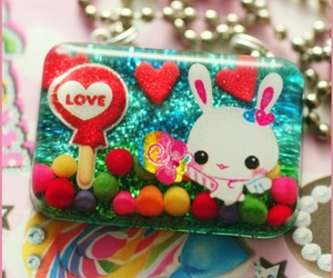 glitter, kawaii, and necklace image