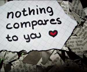 quote, compare, and heart image