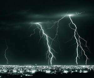 lightning, city, and light image