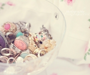 rings, pink, and accessories image