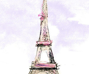 drawing, illustration, and eiffel tower image
