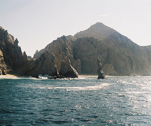sea, mountains, and ocean image