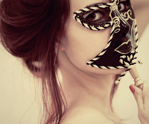 deviantart, redhair, and mask image