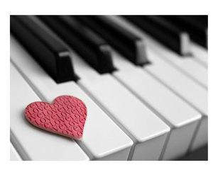 piano, vintage, and love image