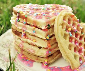 waffles, food, and heart image