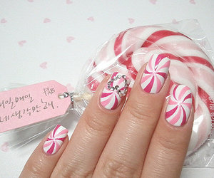 nails, pink, and candy image