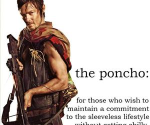 norman reedus, poncho, and the walking dead image
