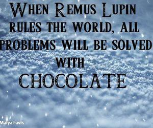 chocolate, harry potter, and remus lupin image
