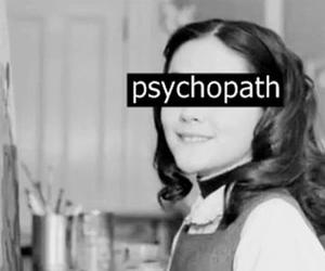 girl, black and white, and psychopath image