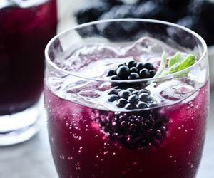 drink, blackberry, and food image