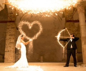 love, wedding, and heart image