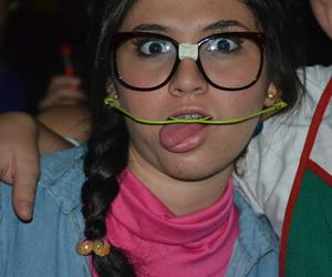 costume, glasess, and lentes image
