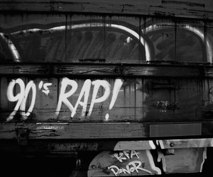 graffiti, rap, and 90's image
