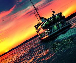 beautiful, istanbul, and sunset image