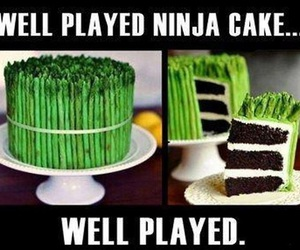 cake, ninja, and funny image