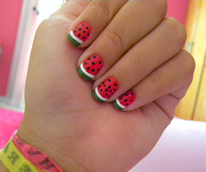 nails, cute, and watermelon image