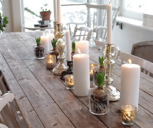 bright, candles, and winter image