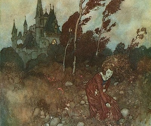 illustration, castle, and fairy tale image